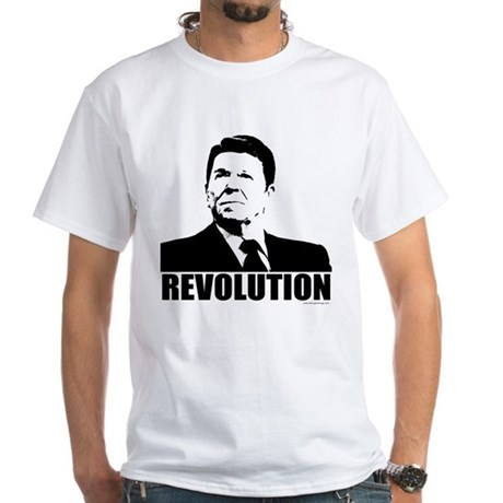 Reagan Revolution White T-Shirt