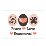Peace Love Beauceron Postcards (Package of 8)