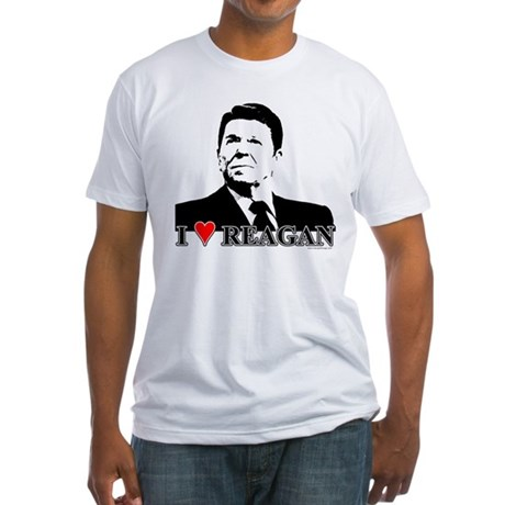 I Heart Reagan Fitted T-Shirt