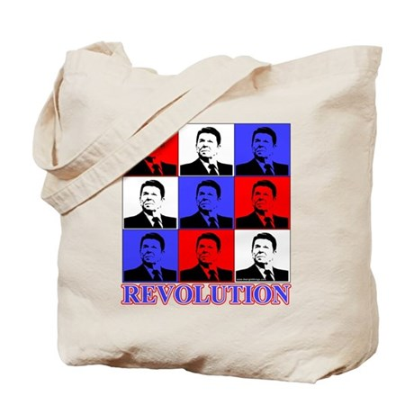 Reagan Revolution Pop Art Tote Bag