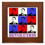 Reagan Revolution Pop Art Framed Tile