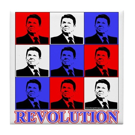 Reagan Revolution Pop Art Tile Coaster