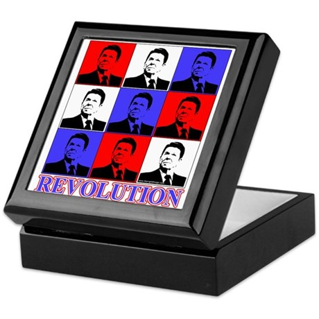 Reagan Revolution Pop Art Keepsake Box