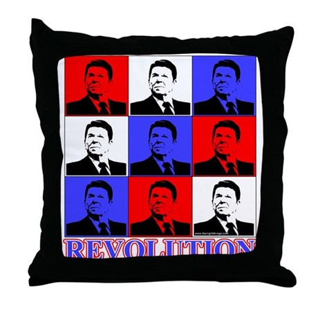 Reagan Revolution Pop Art Throw Pillow