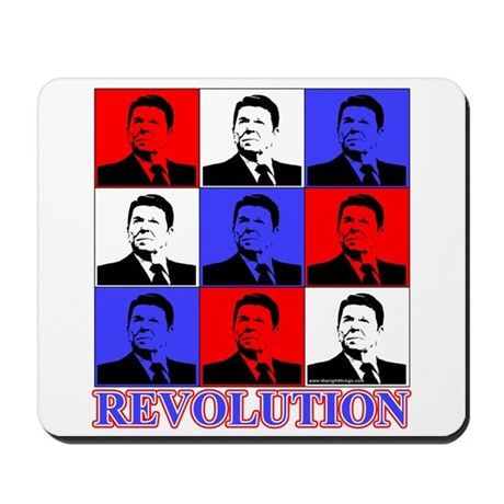 Reagan Revolution Pop Art Mousepad