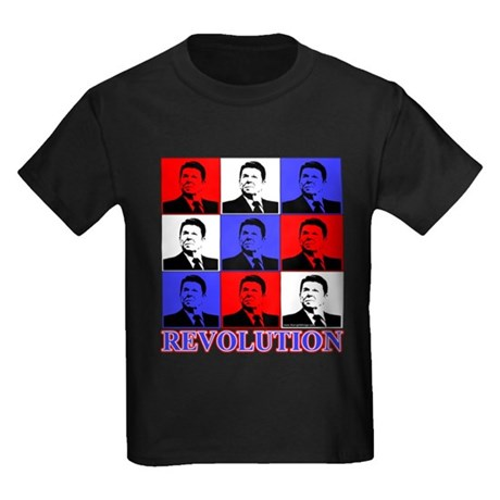 Reagan Revolution Pop Art Kids Dark T-Shirt
