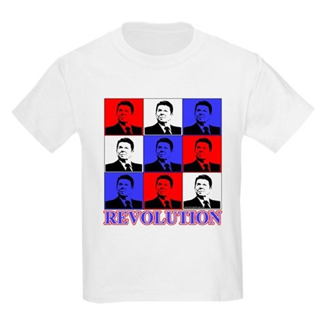 Reagan Revolution Pop Art Kids Light T-Shirt