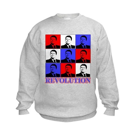 Reagan Revolution Pop Art Kids Sweatshirt