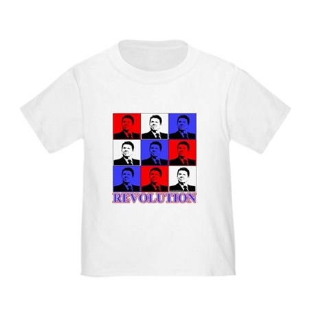 Reagan Revolution Pop Art Toddler T-Shirt
