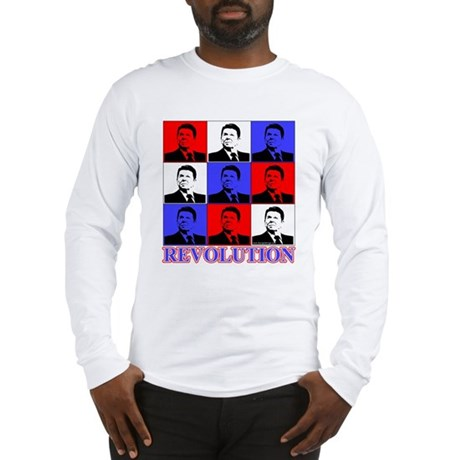 Reagan Revolution Pop Art Long Sleeve T-Shirt