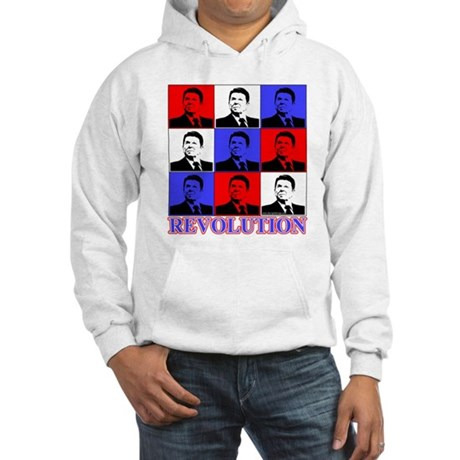 Reagan Revolution Pop Art Hooded Sweatshirt