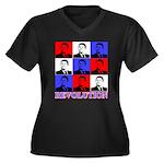 Reagan Revolution Pop Art Women's Plus Size V-Neck