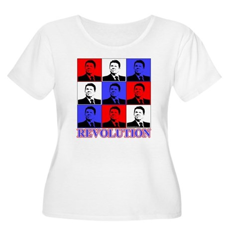 Reagan Revolution Pop Art Women's Plus Size Scoop