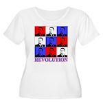 Reagan Revolution Pop Art Women's Plus Size Scoop