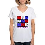 Reagan Revolution Pop Art Women's V-Neck T-Shirt