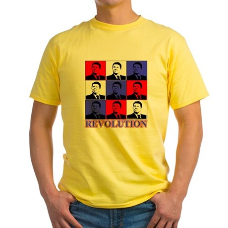 Reagan Revolution Pop Art Yellow T-Shirt