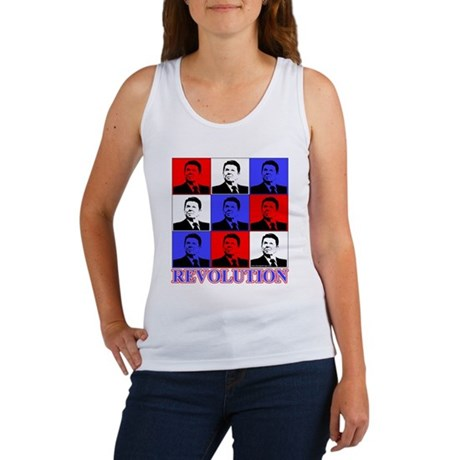 Reagan Revolution Pop Art Women's Tank Top