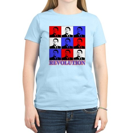 Reagan Revolution Pop Art Women's Light T-Shirt