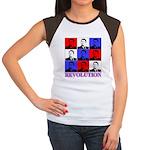 Reagan Revolution Pop Art Women's Cap Sleeve T-Shi