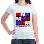 Reagan Revolution Pop Art Jr. Ringer T-Shirt