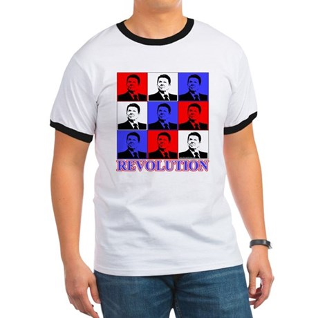 Reagan Revolution Pop Art Ringer T