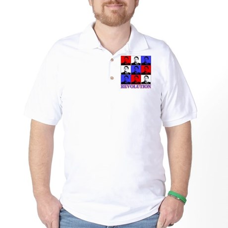 Reagan Revolution Pop Art Golf Shirt