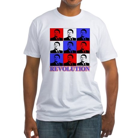 Reagan Revolution Pop Art Fitted T-Shirt