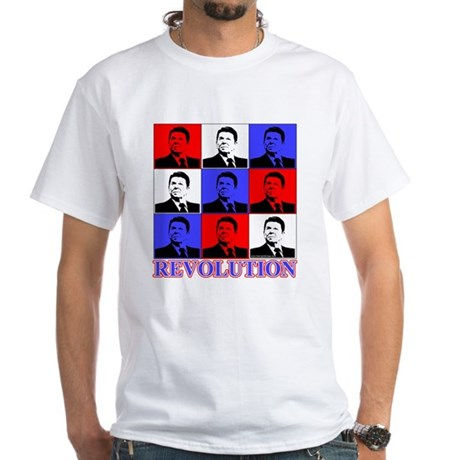 Reagan Revolution Pop Art White T-Shirt