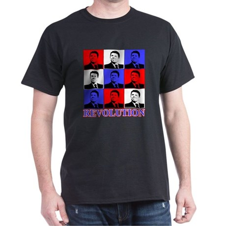 Reagan Revolution Pop Art Dark T-Shirt