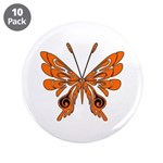 """Butterfly Tattoo 3.5"""" Button (10 pack)"""