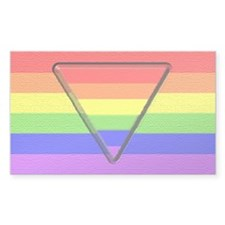 Rainbow Pride Triangle Rectangle Decal