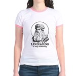 LEONARDO Is My Homeboy -Jr. Ringer T-Shirt