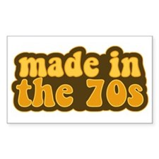 Made In The 70s Rectangle Decal