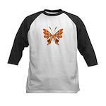 Butterfly Tattoo Kids Baseball Jersey