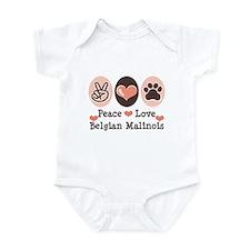 Peace Love Belgian Malinois Infant Bodysuit