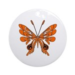 Butterfly Tattoo Ornament (Round)