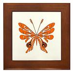 Butterfly Tattoo Framed Tile
