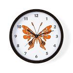 Butterfly Tattoo Wall Clock