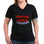 Retired Industrial Engineer Women's V-Neck Dark T-