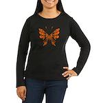 Butterfly Tattoo Women's Long Sleeve Dark T-Shirt