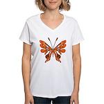 Butterfly Tattoo Women's V-Neck T-Shirt