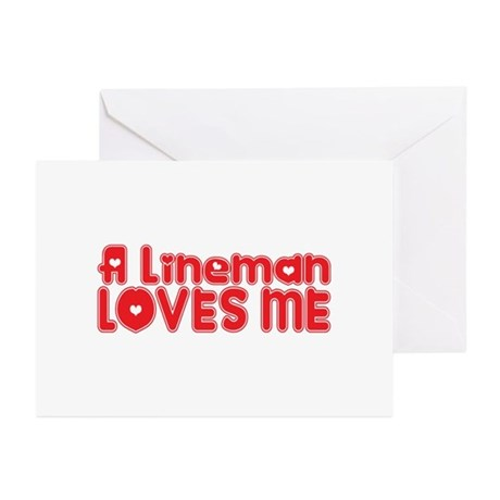 A Lineman Loves Me Greeting Cards (Pk of 20)