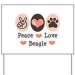 Peace Love Beagle Yard Sign