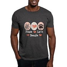 Peace Love Beagle T-Shirt