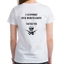 "Womens DOUBLE SIDED-""I support our Mercenarys"