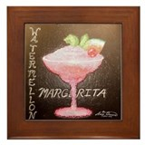 Watermellon Margherita Framed Tile