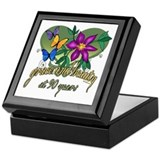 Beautiful 90th Keepsake Box