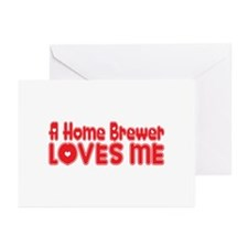 A Home Brewer Loves Me Greeting Cards (Pk of 20)