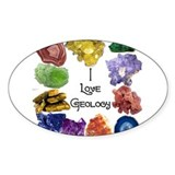 Geology Rocks 9 Oval Decal