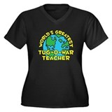 World's Greatest Tug-o.. (H) Women's Plus Size V-N